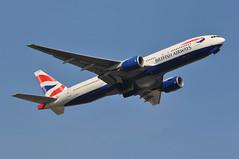 BA2279 LGW-OAK (A380spotter) Tags: takeoff departure climb climbout belly gearinmotion gim boeing 777 200er gymmt internationalconsolidatedairlinesgroupsa iag britishairways baw ba ba2279 lgwoak runway08r 08r london gatwick egkk lgw