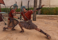 Two soldiers practice their swordsmanship  in ancient Alexandria in Assassin's Creed Origins Discovery Tour (mharrsch) Tags: ancient alexandria egypt ptolemaicperiod assassinscreedorigins discoverytour mharrsch soldier warrior sword sparring