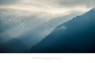 Mountain Scene, Himalaya, Gasa Valley, Bhutan