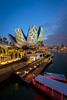 iLight Marina Bay (-syphrix-) Tags: singapore syphrix marina bay sands art science museum water waterfront river helix bridge blue hour dusk evening skyline icon travel urban cityscape ilight commercial building office district financial long exposure canon 2018