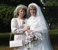 Proud mother of the bride (vintage ladies) Tags: wedding 80s 80swedding pike kettering 3181985 bride we weddingdress eoshe
