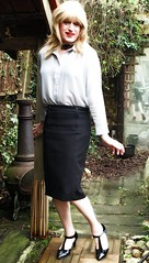 Office Look (Amber :-)) Tags: black pencil skirt tgirl transvestite crossdressing