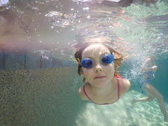 Hey there (trois petits oiseaux) Tags: kids childhood underwater gopro