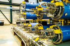 Another view of dipoles (evenkolder) Tags: cern sm18 acceleratorphysics physics canon6d lightroom switzerland france geneva particleaccelerator accelerator magnet dipole cryogenic