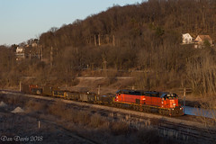 Approach to AK (Dan A. Davis) Tags: ble bessemerlakeerie cn canadiannational sd38ac sd40t3 freighttrain railroad locomotive train butler pa pennsylvania
