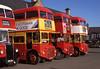 Routemaster Line-up at Dunbar Aug'88 (David Christie 14) Tags: dunbarrally lt rm rml clydeside