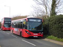 Before The Hold Up (londonbusexplorer) Tags: metroline west adl enviro 200 mmc del2162 lk16ddy u2 uxbridge brunel university tfl london buses