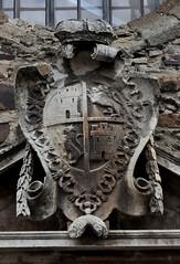 Astorga (León-España). Celda de las Emparedadas. Escudo de Castilla y León (santi abella) Tags: astorga león castillayleón españa heráldica escudos