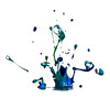 Greens and blues (Wim van Bezouw) Tags: sony ilce7m2 paint drops pluto trigger plutotrigger sound vibration highspeed