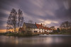 End of light (unciepaul) Tags: hardwater mill watermill water sunset cottages trees england longexposure sonya6000 northamptonshire cold spring
