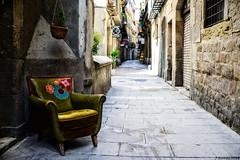 Lonely chair III (j.borras) Tags: lonely chair born ribera quarter street photography wandering walking nikon barcelona 35mm