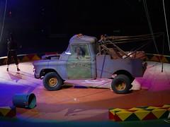 The Punk Clown Act (Tim7778) Tags: circus performance comedy punk clown junky towtruck indoors stadium dark lighting