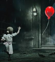 """Come back!"" [Alt.] (L1netty) Tags: bioshockinfinite bioshock irrationalgames 2kgames pc game gaming pcgaming videogame reshade screenshot 4k color character sally girl people balloon redballoon city buildings street rain ravens"