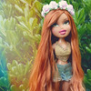 Lovely is she (sailorb1959) Tags: bratz magic hair color mhc fianna reroot doll restoredoll archie saran flower crown ginger coachella hot dolls mga mgae mgaentertainment