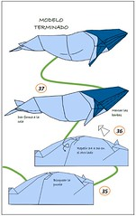 Ballena: diagramas (mrmicawer) Tags: papiroflexia origami papel ballena whale mar sea cetáceo mamímero