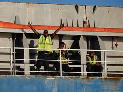 Taking a break (Just Back) Tags: guys men sailors working greeting waving hello love friendship kennenlernen