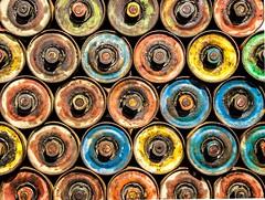idlers (Nick Frantzeskakis) Tags: idlers mining circle cylinder continuity colors art artistic closeup geometric