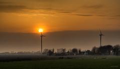 Neodämmerung. (Alex-de-Haas) Tags: 85mm burgerbrug d500 dutch hdr holland nederland nederlands netherlands nikkor nikon noordholland boerenland energie energy farmland green landscape landschaft landschap lente meadows molen polder renewable spring sundown sunset turbine weiland wind windmill windturbine windmolen zonsondergang nl