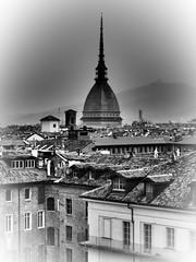 Torino non è un luogo che si abbandona. / Turin is not a place that abandons itself. (Friedrich Nietzsche) (VauGio) Tags: turin torino italia italy piemont piemonte moleantonelliana biancoenero blackwhite olympus omd em10