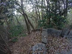 Nino neck vW _orig_LG (Hazbones) Tags: iwakuni yamaguchi yokoyama castle kikkawa suo chugoku mori honmaru ninomaru demaru wall armor samurai spear teppo gun matchlock map ropeway