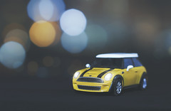 mighty (rockinmonique) Tags: 52in52 201852weekthemechallenge toy toycar minicooper ionceownedoneandilovedit tinycar yelow bokeh macro moniquewphotography canon canont6s tamron tamron45mm copyright2018moniquewphotography