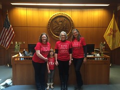 Members of Moms Clean Air Force New Mexico delivered petition signatures to Governor Martinez demanding reasonable clean air protections that reduce pollution and harm to our kids.