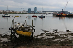 Upper Upnor, Across to St Mary's Island (timothyhart) Tags: saxonshoreway footpath thames medway gravesham kent estuary river boats ships commercial merchantnavy outdoors nationaltrail spring 2018 march shipping gravesend rochester hoopeninsular countryside