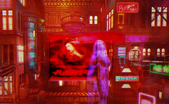 Quartier Rouge (☺ ChimKami ☺ Rushing In Slow Motion !) Tags: drune cyberpunk sciencefiction scifi secondlife sl