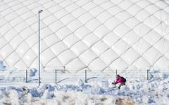 April 1st (@Tuomo) Tags: flickr jyväskylä talvi finland winter spring snow ice cyclist m43 olympus em1mk2 zuiko 1240mm28 nordic north