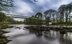 The Swinging Bridge (Ken Finlay) Tags: swinging bridge mourne sion mills herdmans salmon fishing gravenue pool long exposure