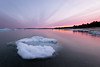 twilight (phatwhistle) Tags: michigan leelanau winter water sea ice sunset landscape seascape sky clouds northernmichigan