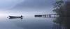 2617 (Keiichi T) Tags: 木 tree 6d 霧 靄 green 朝 fog eos haze canon lake 湖 日本 水 リフレクション 緑 boat reflection morning japan 橋 bridge water ボート