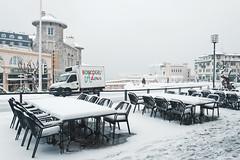 Frozen coffee (Laurent Pelleray) Tags: biarritz neige snow winter hiver nikon incroyable rare unbelievable white dxo bask country pays basque euskadi kostaldea flakes flocons unique