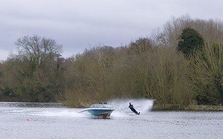 Not exactly the warmest weather to water ski