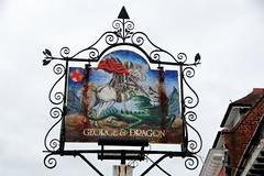 Pub sign for The George & Dragon, Westerham. (Peter Anthony Gorman) Tags: kentpubs gerogedragon pubsigns westerham