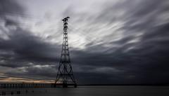 Aust... (Jess Feldon) Tags: longexposure pylon beach severnbridge severnestuary aust sky clouds jessfeldon wideangle coast estuary