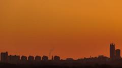 Scheveningen Skyline (Alex Fonderson) Tags: netherlands nederland holland scheveningen silhouette sunset telephoto meijendel