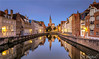 Dawn in Bruges, Belgium (AdelheidS Photography) Tags: adelheidsphotography adelheidsmitt adelheidspictures belgium belgie spiegelrei reflection reflect dawn morning bluehour blue blauwuurtje flanders vlaanderen poortersloge canal mirror cityscape cityview canoneos6d canonf4l2470mm