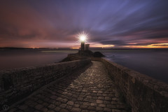 Lighthouse star... (Grégory Dolivet) Tags: light lighthouse pier clouds sea seascape sky twilight dusk zen longexposure bretagne brittany starbust gregorydolivet