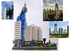 Skyline - Jakarta, Indonesia, Angle 2 (BrickBlvd) Tags: lego micro architecture skyline jakarta indonesia bni bank building high rise
