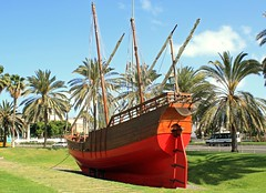 Replica of Christoper Columbus ship 'Nina' (Dave Russell (1.3 million views thanks)) Tags: replica wood wooden ship boat vessel vehicle transport nina christopher columbus 1492 america voyage caravele las palmas gran canaria canary island islands span spanish travel tourism preserved museum
