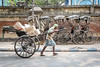 Kolkata, India (gstads) Tags: kolkata calcutta india bengal bengali westbengal rickshaw wala rickshaws street streetscene streetphotography indian ngc wheel wheels cart