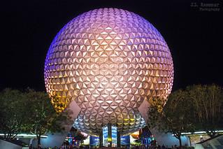 Spaceship Earth (after dark) - Disney's Epcot