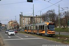 ATM 4901 (Davuz95) Tags: atm tram 700 719 sabbier4900 piazza ovidio ospedale niguarda sabbiera 4900 2018 2017