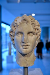 Alexander (jeremyhughes) Tags: portrait sculpture bust carving marble alexander alexanderthegreat acropolis acropolismuseum museum relic display exhibit history historical gallery greece ancient antiquity king nikon d750 nikkor afszoomnikkor2470mmf28ged 2470mmf28g damage imperfection