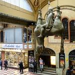 """""""Horse"""" by David Černý, Lucerna (Lantern) passage, Nové Město, Prague thumbnail"""
