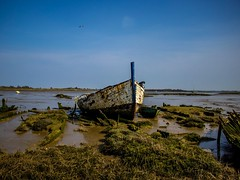 Stranded (Mad Cow Imagery) Tags: sky shore water grass boat barge canonefs1855mmf3556isstm canoneos80d blackwaterestuary northeyisland essex maldon england gb greatbritain uk unitedkingdom 7dwf