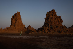 Lake Abbe at dawn (Lil [Kristen Elsby]) Tags: africa canon5dmarkii djibouti lakeabbe travelphotography dawn djiboutian afar lavachimneys geothermal