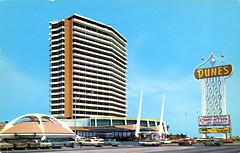 Dunes Hotel, Las Vegas, Nevada (SwellMap) Tags: postcard vintage retro pc chrome 50s 60s sixties fifties roadside mid century populuxe atomic age nostalgia americana advertising cold war suburbia consumer baby boomer kitsch space design style googie architecture