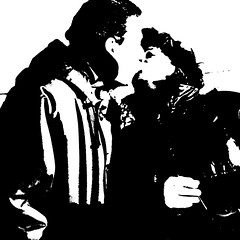 a tender kiss (j.p.yef) Tags: peterfey jpyef yef dirgitalart photomanipulation bw sw monocrome iphone people man woman pair love tenderness square liebe kiss kuss zärtlichkeit bestportraitsaoi